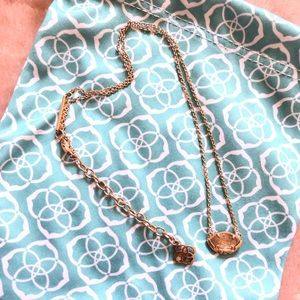 Rose Gold Kendra Scott Necklace WITH BAG!